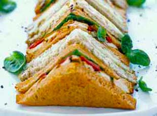 Business office catering solihull knowle buffet delivery for Club sandwich fillings for high tea